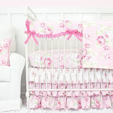 shabby chic bumperless ruffle crib bedding caden lane