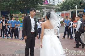 wedding dress sub indo groom storms after made herself look like an woman