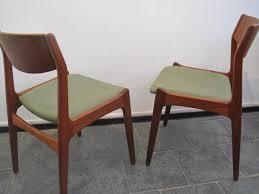 mid century danish sage green teak dining chairs 1960s set of 6