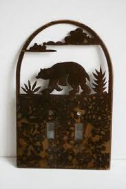 bear light switch covers homeplates worldwide water drops on stainless steel decorative light