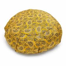 sari pattern zafu meditation cushion sari zafu meditation cushion saffron paisley 52 00 gifts for