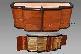Art Deco Bedroom Furniture For Sale by Custom Art Deco Media Cabinet By Earl Nesbitt Fine Furniture