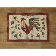 Country Hooked Rugs Farmhouse Rooster Hooked Rug 2x3 Country Village Shoppe