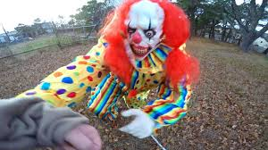 scary killer clown tries to steal kid scary clown chase youtube