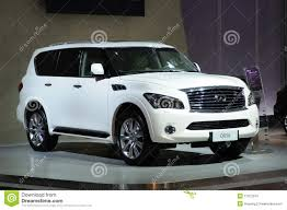 infiniti qx56 limo white infiniti qx56 suv editorial stock photo image 17072973