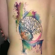 34 watercolor tree designs amazing ideas