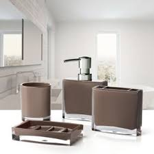 brown bathroom accessories you u0027ll love wayfair