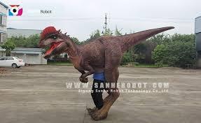 velociraptor costume walking costume professional animatronics maker sanhe robot