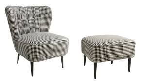 How Do You Spell Ottoman Houndstooth Chair And Ottoman Niche Interiors