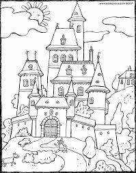 castle colouring pages kiddi kleurprenten