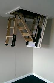 skylark 3 section electric timber folding loft ladder