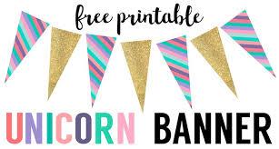 printable birthday decorations free unicorn birthday banner free printable paper trail design