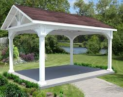 Pergola Roof Brackets by Vinyl Gable Roof Open Rectangle Gazebos Gazebos By Material
