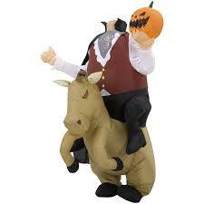 Inflatable Halloween Costumes Inflatable Headless Horseman Illusion Costume Green Head
