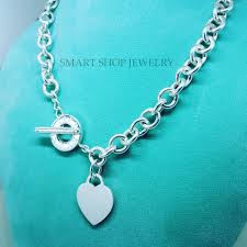 tiffany sterling necklace images Tiffany co 17 inches co sterling silver heart charm toggle jpg