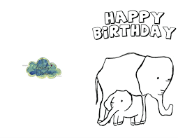 birthday card to print birthday cards to color and print childrens photo thank you cards