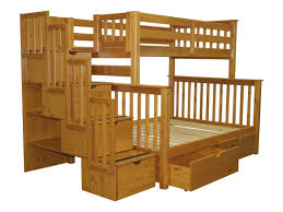 Bed Frame With Storage Bedz King Stairway Twin Over Full Bunk Bed With Storage U0026 Reviews