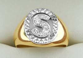 diamond name rings images 18kt ladies diamond signet ring for a name starting with an 39 s jpg