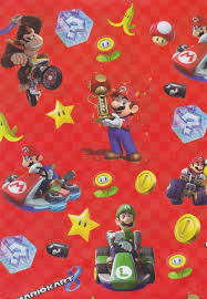 mario wrapping paper mario kart gift wrapping paper cardspark