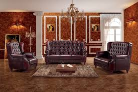 Chesterfield Sofa Set China Luxury High Back Leather Chesterfield Sofa Set Ms 09