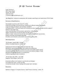 resume outline exles qa tester resume sles