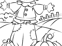 download scarecrow coloring page ziho coloring