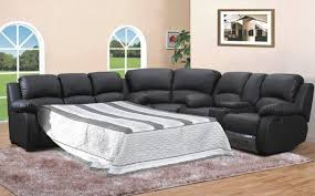 Sectional Sofa With Sleeper And Recliner Leather Sectional Sofa Sleeper Recliner Catosfera Net