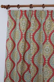 Teal And Red Curtains Pair Of 25 Waverly Moonlit Medallion Golden Rod By Liveplush