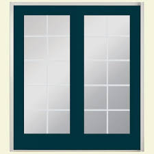 jeld wen 72 in x 80 in steel white prehung left hand outswing 1 72 in x 80 in classic clear glass fiberglass smooth prehung