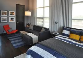 Bed In Living Room Decorating With Grey And Blue Best Grey Orange Bedroom Ideas On
