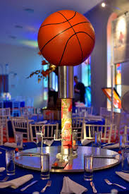 basketball centerpieces unique bar mitzvah centerpieces for an autism friendly event