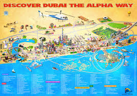 Dubai Metro Map by Dubai Map Tourist Attractions City Guide