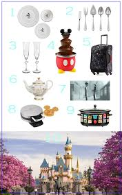 finding a wedding registry 10 disney things for your wedding registry