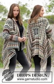 drops design poncho crochet free knitting patterns and crochet patterns by drops design