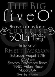 invitation wording for a 50th birthday party invitation ideas