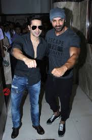john abraham and varun dhawan promote dishoom at radio mirchi