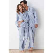 plaid mens womens striped pajama set the company store