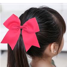 school hair accessories 30pcs 5 inch big ribbon cheer bows with school hair bows