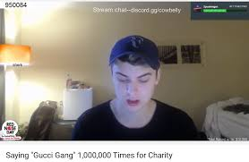 Charity Meme - saying gucci gang 1 000 000 times for charity lil pump gucci