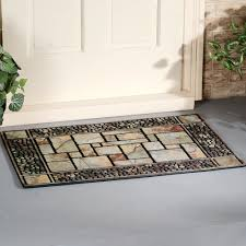 furniture grey stone design doormats for modern intrrior decor
