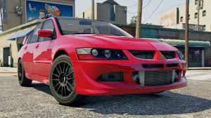 mitsubishi evo red mitsubishi lancer evo 8 mr tuning gta5 mods com