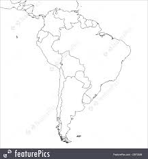 Soth America Map by Signs And Info Blank South America Map Stock Illustration