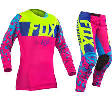 fox motocross pants bike racing fox motocross gear sets new youth mx pink yellow dirt