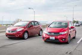 nissan versa note subcompact hatchback head to head honda fit and nissan versa note