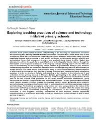 exploring teaching practices of science and technology in malawi