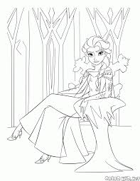 coloring page queen elsa of arendelle