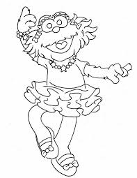 printable pictures sesame street characters kids coloring