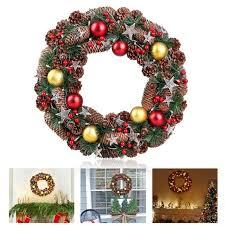 bestoyard wreath decorative garland with pine cone acorn