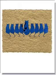 cat menorah cat menorah greeting card 709