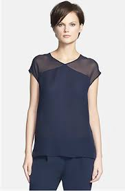 see thru blouse the work look trending see thru shoulders